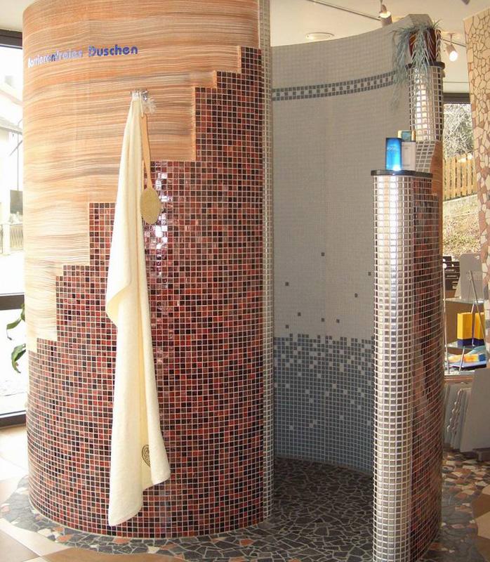 Fliesen natursteine mosaike betonstein fliesen reithmayr dorfen erding - Duschschnecke bauen ...